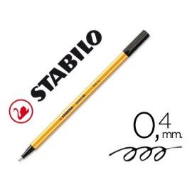 ROTULADOR FIBRA P/EXTRAFINA 0,4MM NEGRO 88/46 STABILO