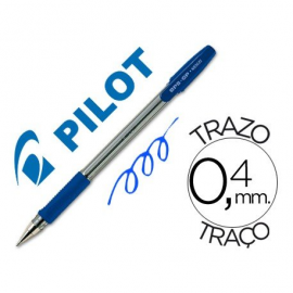 BOLIGRAFO 0,4/1MM CON CAPUCHON TINTA BASE ACEITE AZUL BPS-GP-M PILOT