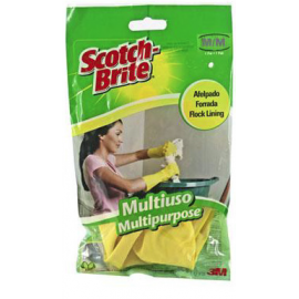 GUANTE LATEX FINO T/MED-GDE C/10U 2458-9 SCOTCHBRITE*