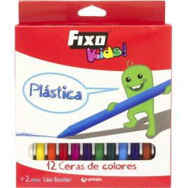 PINTURA PLASTICA COLORES 12U SURTIDAS 34699 FIXO