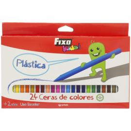 PINTURA PLASTICA COLORES 24U SURTIDAS 34799 FIXO