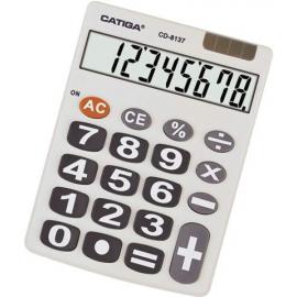 CALCULADORA BASICA SOLAR/PILA 8DIG CD-8137-311143 CATIGA