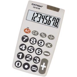 CALCULADORA BASICA SOLAR/PILA  8DIG DK/CD8136-311141 CATIGA