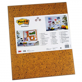 PANEL IMITACION CORCHO ADHESIVO COLOR MARRON 460X585MM 3M 558 POST-IT 3M