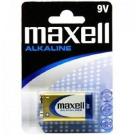 PILA RECTANGULAR 9V ALCALINA 6LR61-6LF22 LR09 1 UND LR09-B1 MXL-M006 MAXELL