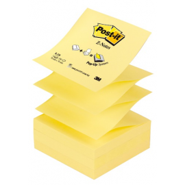 QUITA-PON BLOC ZIG-ZAG 76X76MM AMARILLO R-330 POST-IT 3M