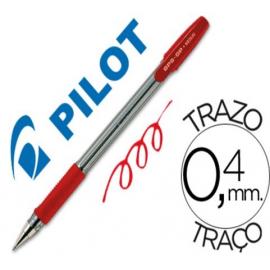 BOLIGRAFO 0,4/1MM CON CAPUCHON TINTA BASE ACEITE ROJO BPS-GP-M PILOT