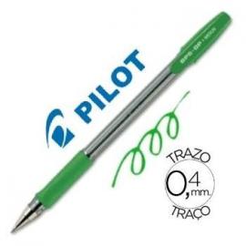 BOLIGRAFO 0,4/1MM CON CAPUCHON TINTA BASE ACEITE VERDE BPS-GP-M PILOT