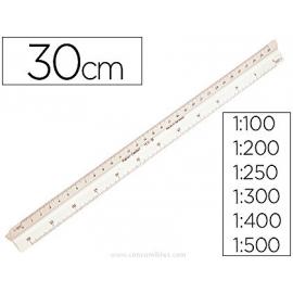 ESCALA TRIANGULAR PLASTICO 30 CMS. 153-B FABER CASTELL