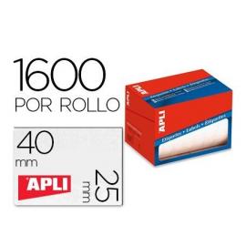 ETIQUETA ROLLO 25X40MM 1600E 1690 APLI