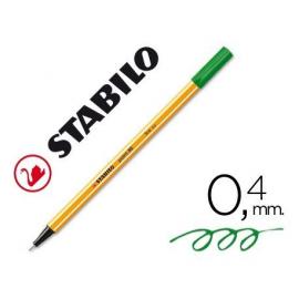 ROTULADOR FIBRA P/EXTRAFINA 0,4MM VERDE 88/36 STABILO
