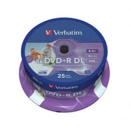 DVD + R 8,5GB DOBLE CAPA PHOTO PRINTABLE TARRINA 10 UDS. 43666 VERBATIM